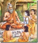 [Rama and brothers at gurukula]