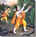 [Rama and Lakshmana searching for Sita]