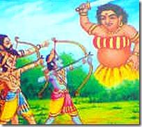 [Rama fighting Rakshasas]