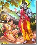[Hanuman meeting Rama]