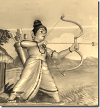 [Rama shooting arrow]