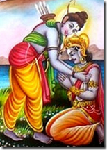 [Vibhishana meeting Rama]