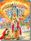 [Krishna showing universal form]