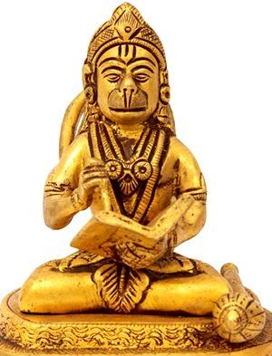 [Hanuman reading Ramayana]