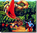 [Krishna and Aghasura]