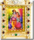 [Framed Radha-Krishna pic]