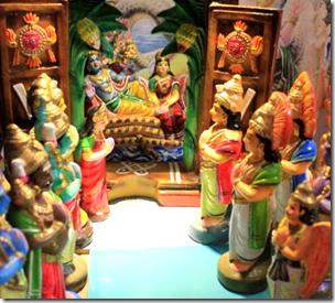 [Bhumi Devi and others praying to Vishnu]