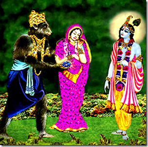 [Krishna receiving the Syamantaka jewel]