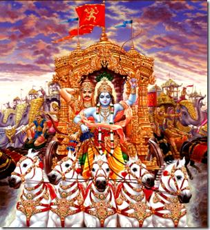 [Arjuna on chariot]