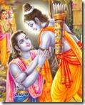 [Rama embracing Bharata]