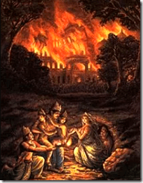 [Pandavas escaping house fire]
