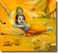 [Krishna holding calf's tail]
