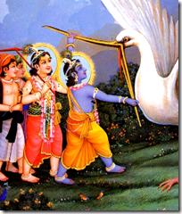 [Krishna and Bakasura]