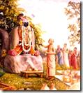 [Madhavendra Puri worshiping Krishna]
