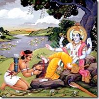 [Krishna and hunter]