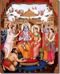 [Sita-Rama coronation]