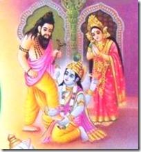 Vishnu and Bhrigu
