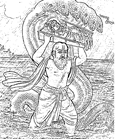 [Vasudeva crossing the Yamuna]