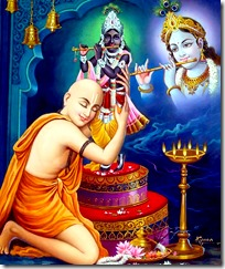 [Mahaprabhu worshiping]