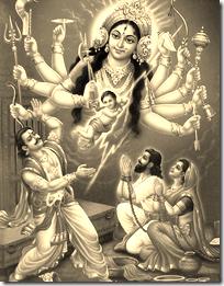 [Durga and Kamsa]