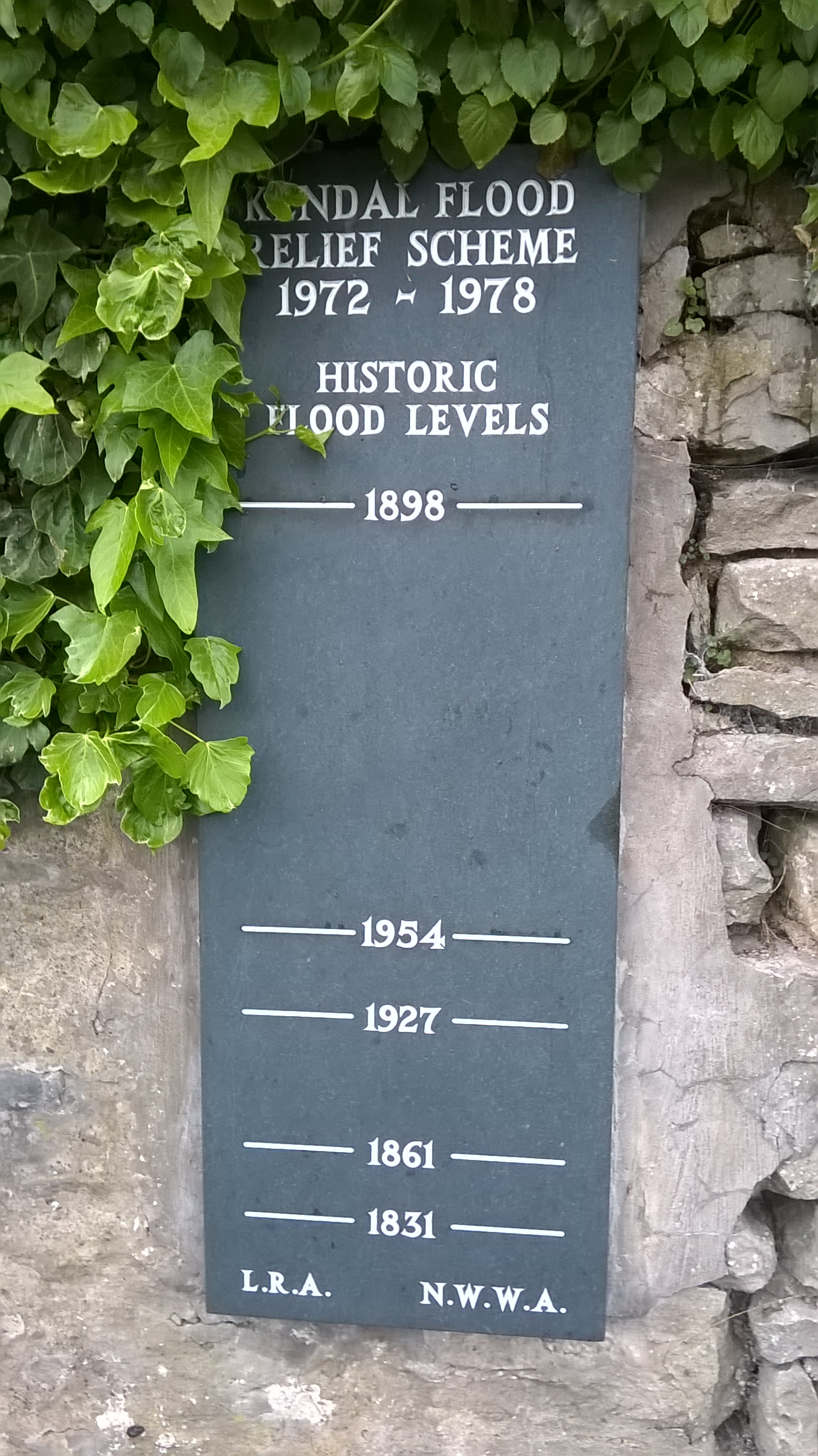 Kentas upes plūdu līmeņu atzīmes. Augšējā ir aptuveni manā augumā (180cm)...