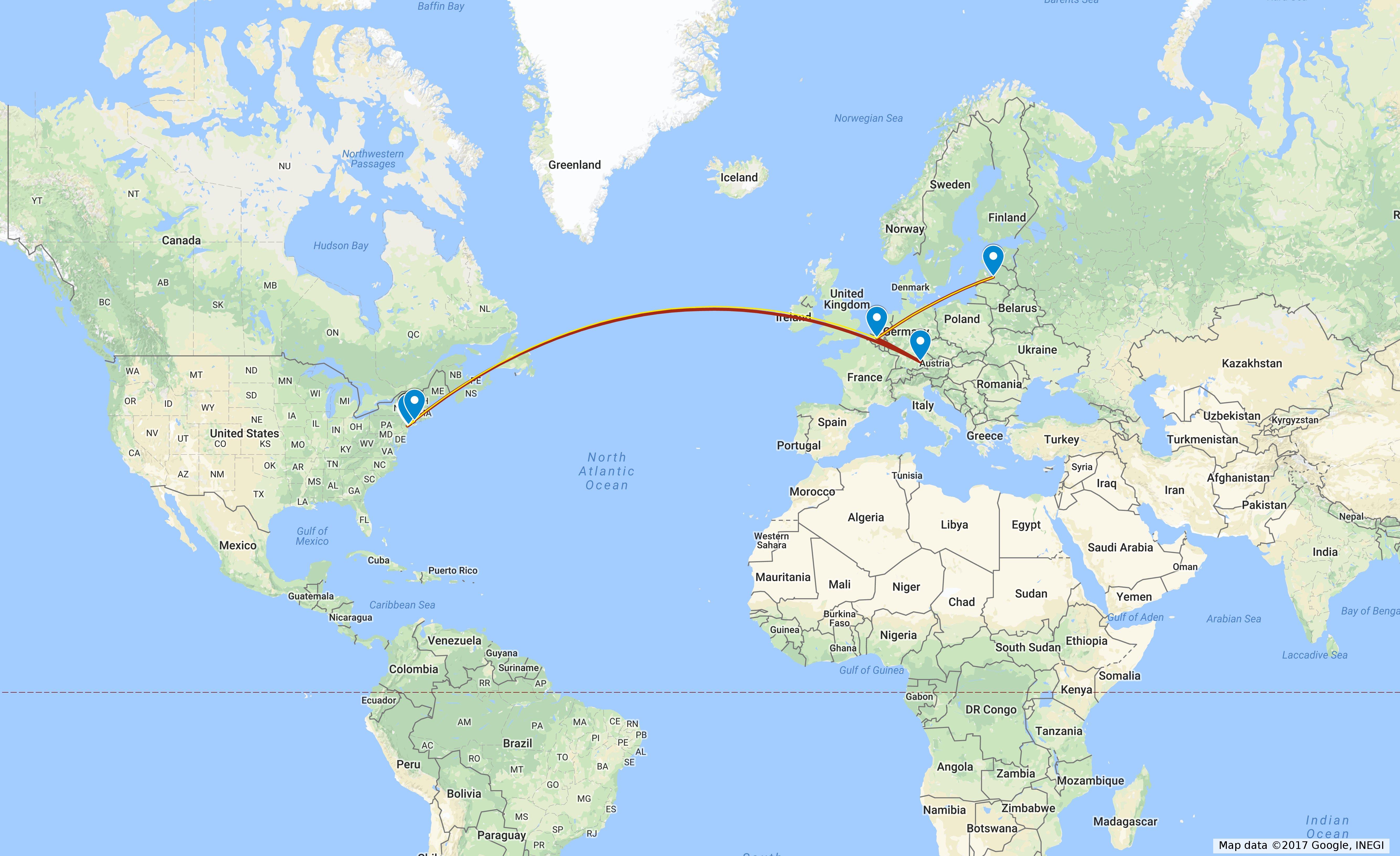 Stāsts par manu ceļojumu uz ASV, 1. daļa