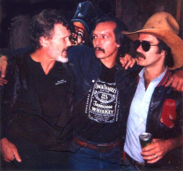 Kris Kristofferson, Tom Ghent and John Lincoln Wright 1986