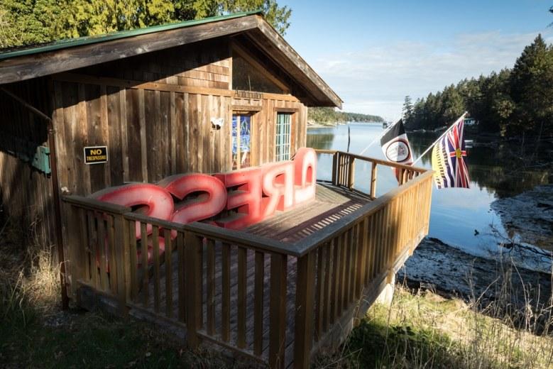 The Boathouse Studio on Whaler Bay, Galiano Island