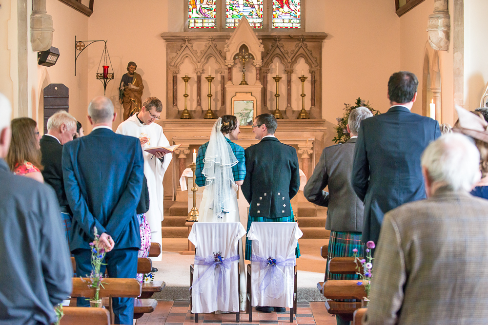 Wedding at Dornie Catholic Church, West Highlands of Scotland