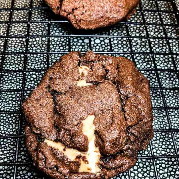 Chocolate Peanut Butter and Tahini Cookies