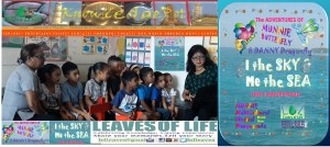 Kindergarten kids at Leela's Learning centre learn to read and singalong with the new Festival Fable I the Sky & Me the Sea