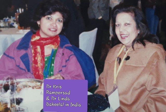 Independent Gender Scholar & Multimedia Journalist Dr Kris Rampersad and Dr Linda Baboolal shatteringthe glass ceiling