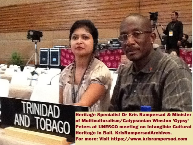 This image has an empty alt attribute; its file name is Dr-Kris-Rampersad-and-Minister-Calypsonian-Gypsy.jpg