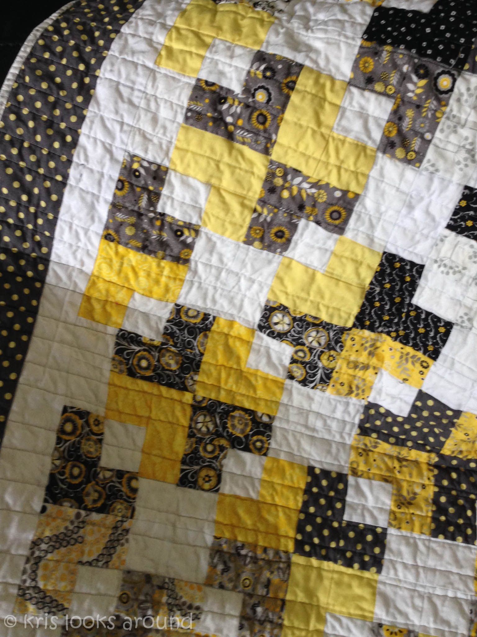 Grey and Yellow Quilt  KrisRunner