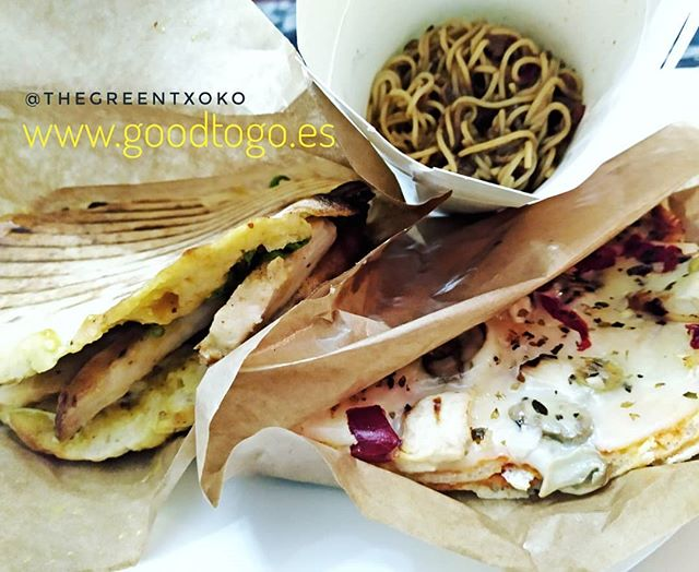"""Tried the next food listed in www.toogoodtogo.es and this time a takeaway bar called """"The Green Txoko"""". This time, for 4,20€, the surprise bag ice got consists of a slice of #pizza , noodles and a chicken sandwich. They were still warm when I picked it up. Very tasty. Recommended takeaway bar. Easy and delicious..#food #foodporn #yum #instafood #PleaseForgiveMe #yummy #amazing #instagood #photooftheday #sweet #dinner #lunch #breakfast #fresh #tasty #food #delish #delicious #eating #foodpic #foodpics #eat #hungry #foodgasm #hot #foods"""