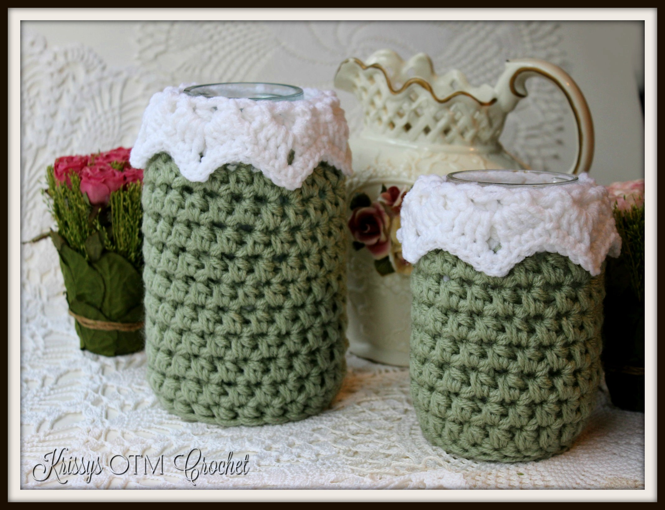 Victorian Heirloom jar cover pattern