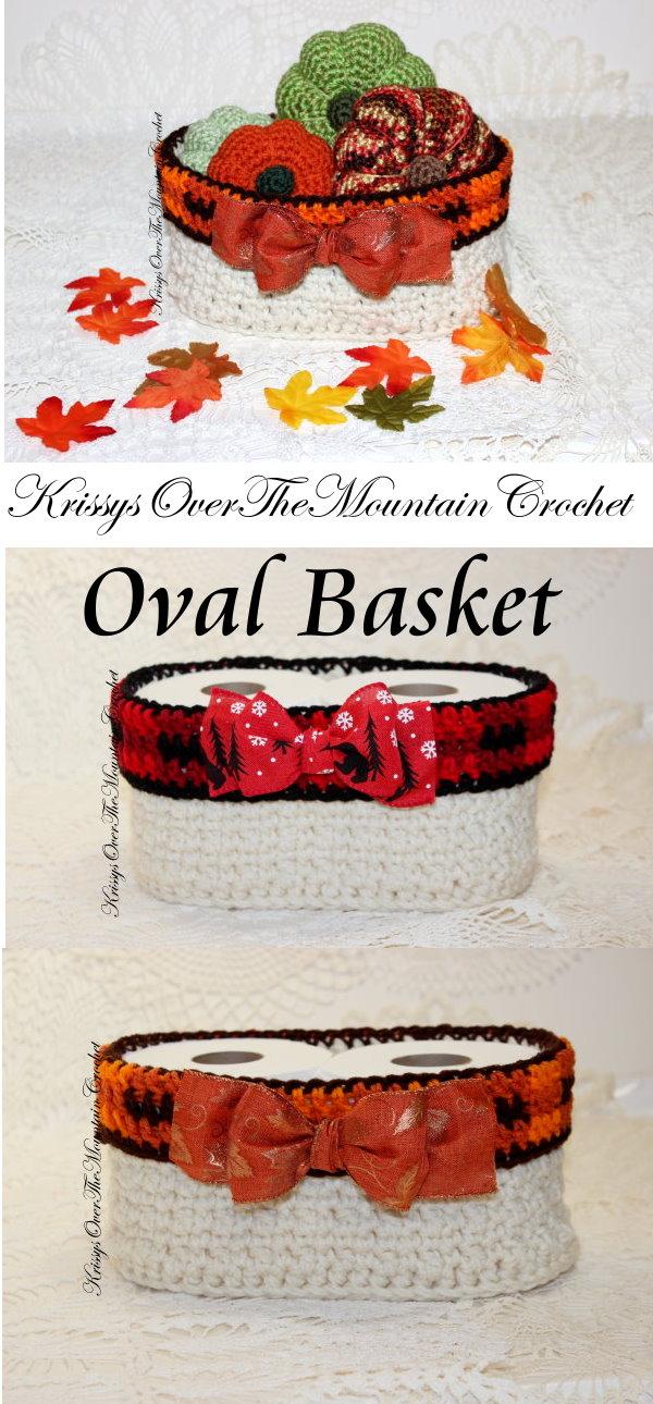 3 Oval Baskets