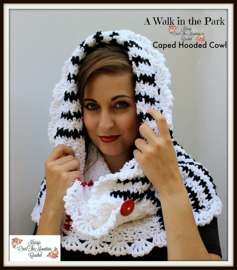 PONCHO COWL CROCHET PATTERN FOR A WALK IN THE PARK