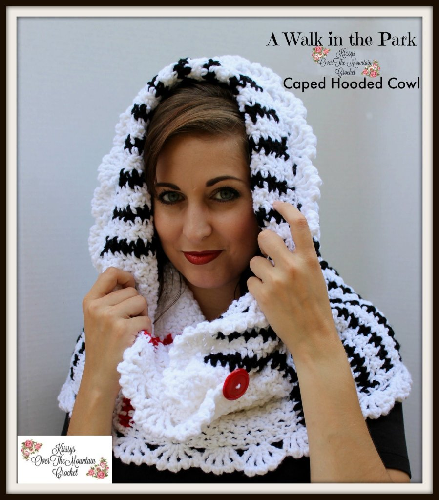 Poncho Cowl Hood Crochet Pattern