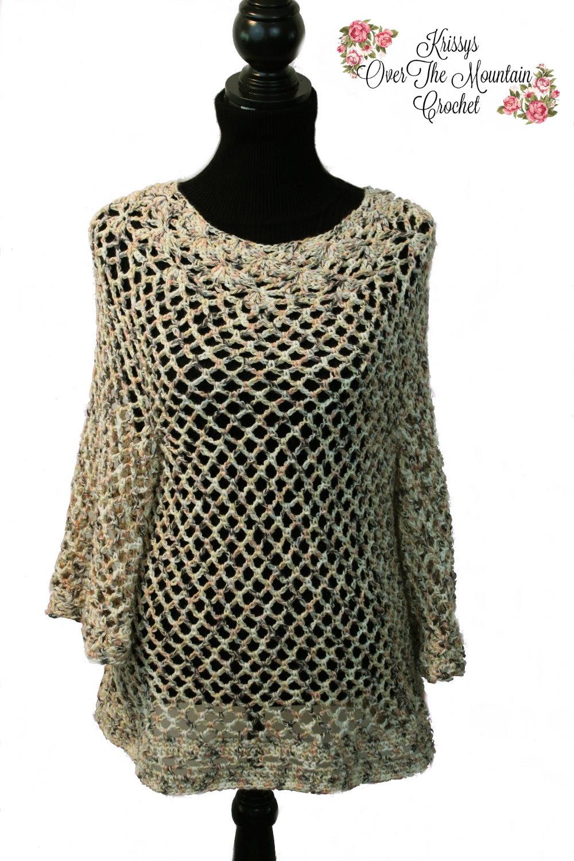 Crochet Tunic. Lovely in cotton yarn.