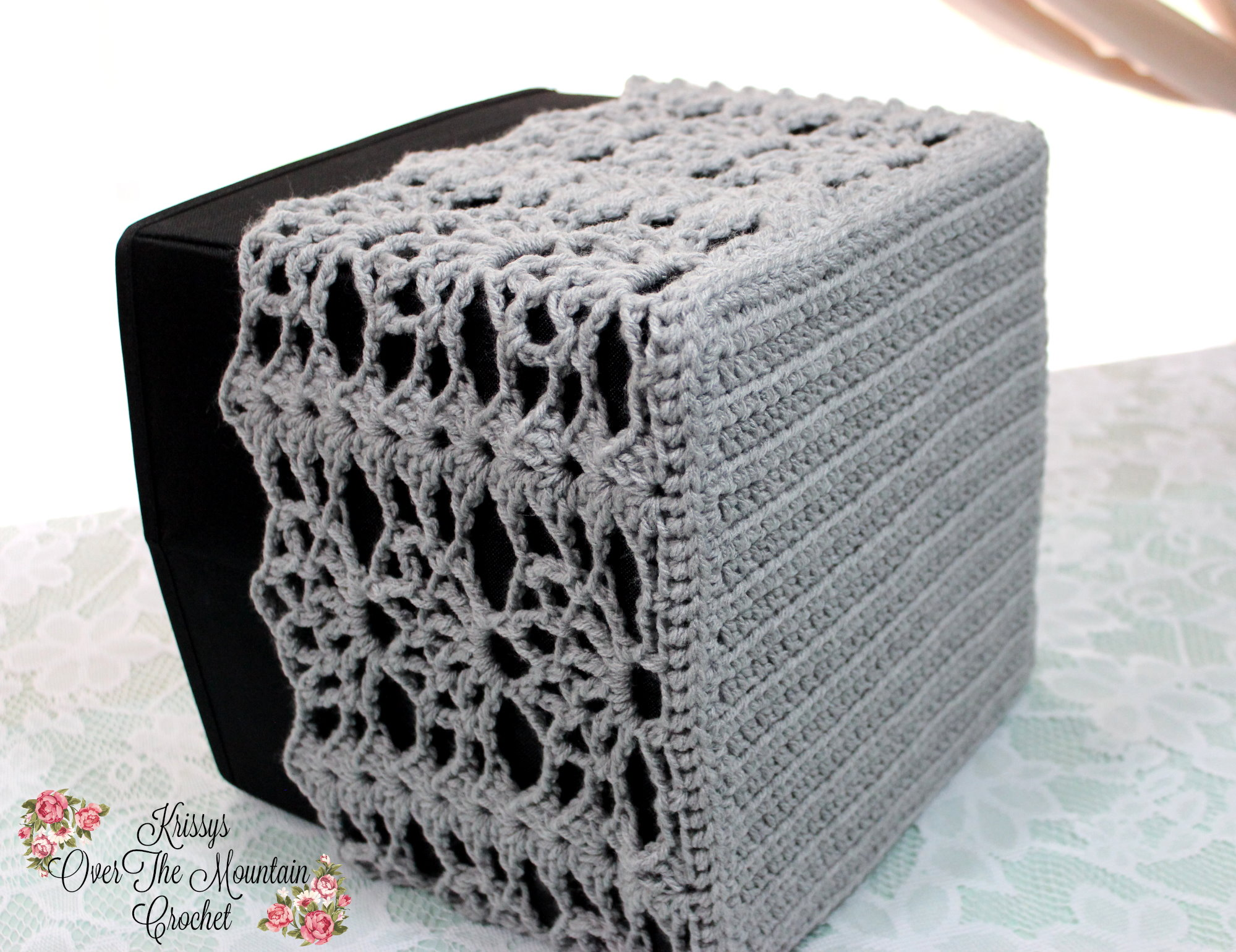 Storage Bin - Sunspray Lace Cover