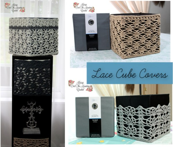 Crochet Lace Cover For Foldable Storage Bins Free Crochet Patterns