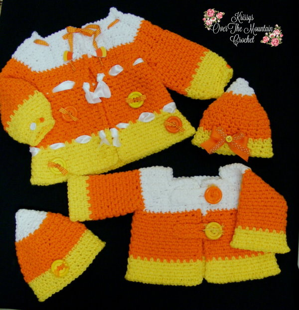 Make this candy corn sweater using this free crochet pattern for your little one's. They will look so sweet at the pumpkin patch and fall festivals this year.
