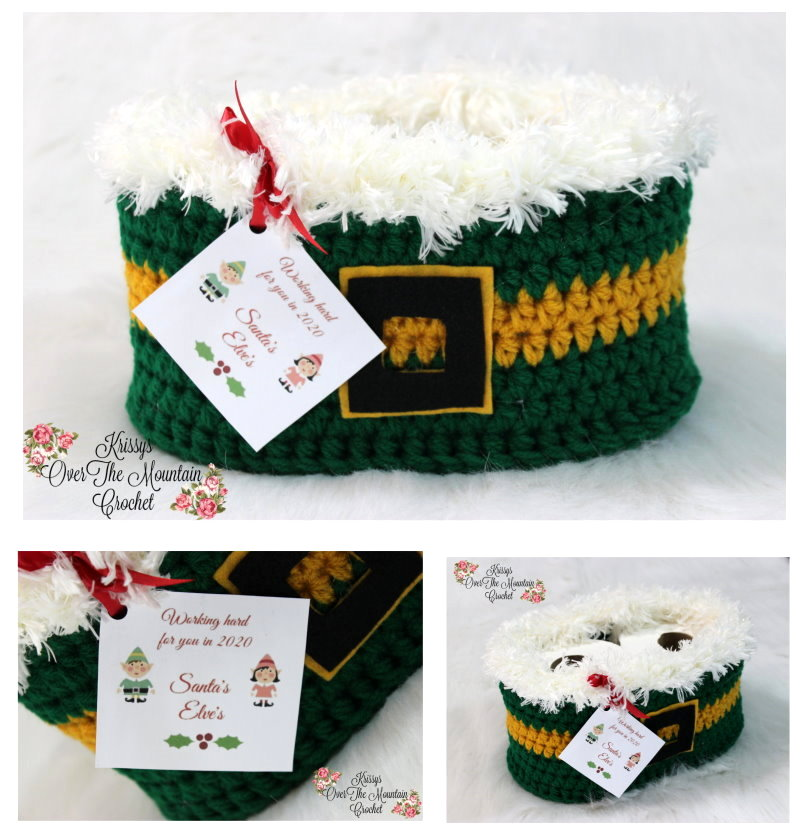 Yes the Santa's Elves are working hard for you! Crochet this Elf toilet paper cover for a friend or for yourself. It's a quick project and you will be so pleased with the results.