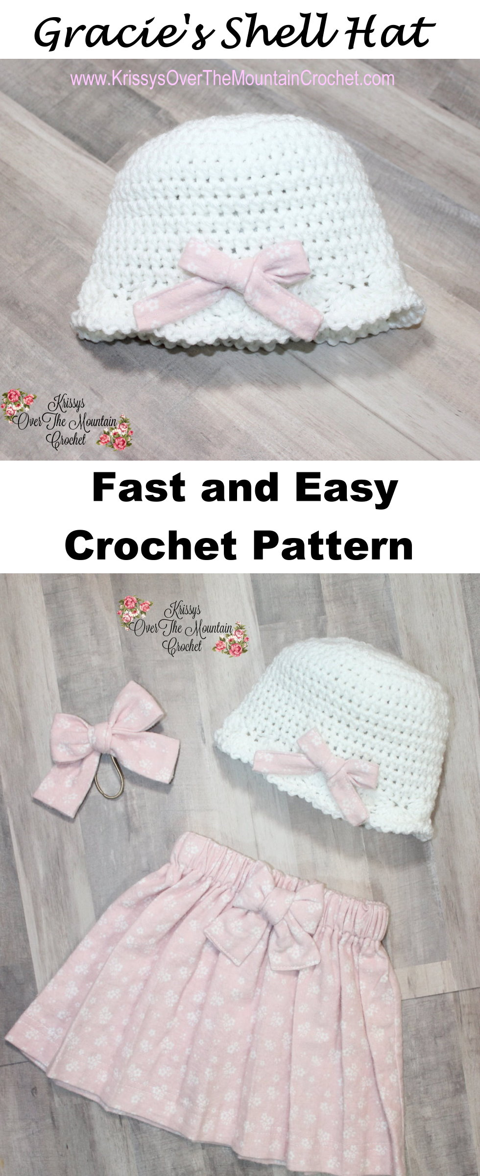 Gracie's shell hat is perfect for winter and spring. Such a fast and easy crochet design!