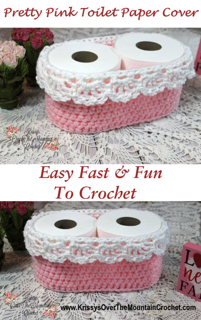 What a sweet toilet paper cover. This crochet basket is quick and fun to make.