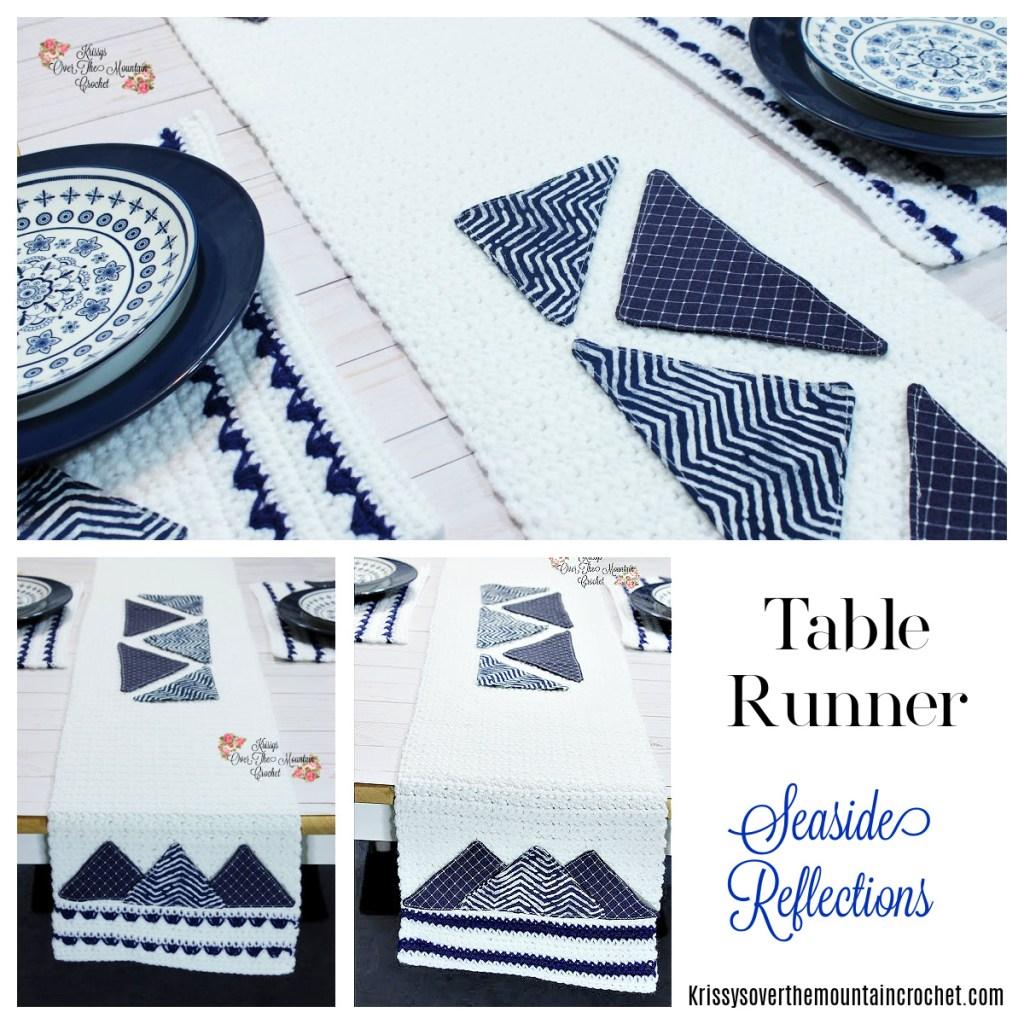 Crochet this table runner, using this free crochet pattern.