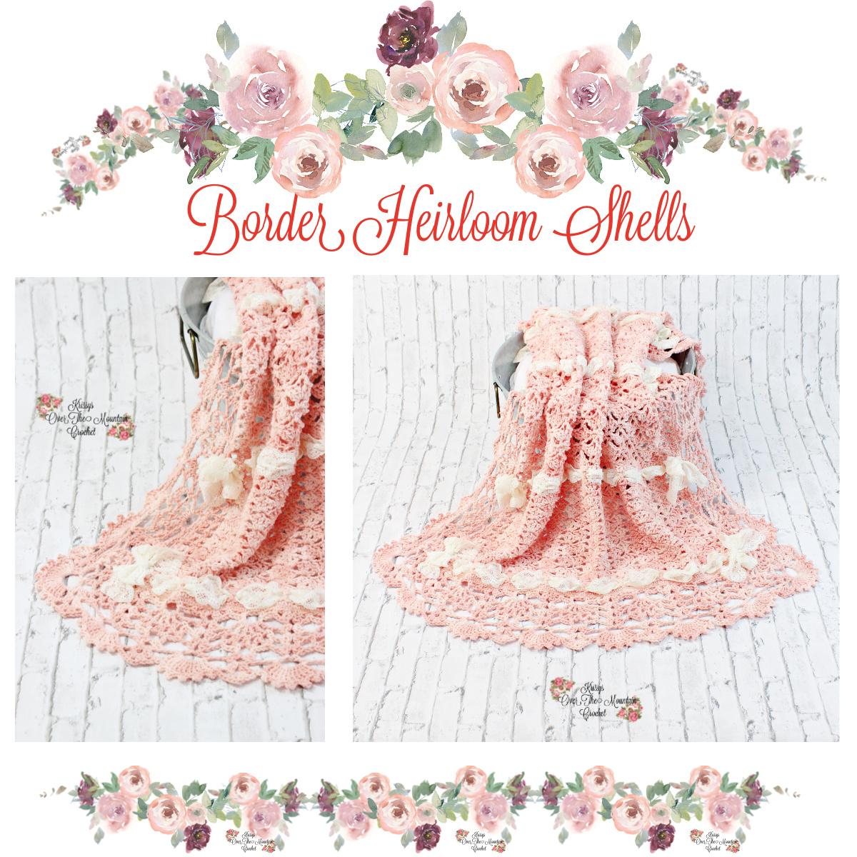 Heirloom Shells Sampler Baby Blanket CAL