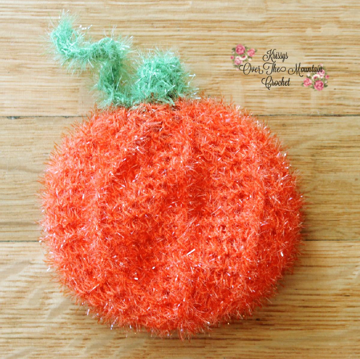 Pumpkin Pot Scrubber Crochet Pattern
