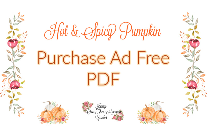 Purchase ad free pdf crochet pattern for the Big and Spicy Pumpkin.